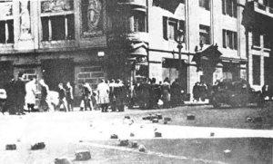 """Barcelona durante la """"huelga de tranvías"""""""