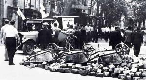 Barricadas en las calles de Barcelona
