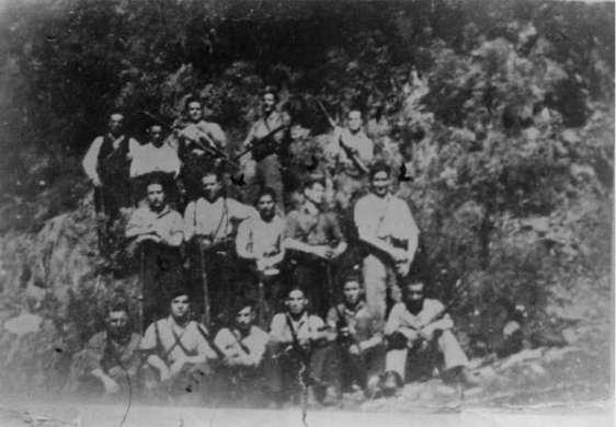 Combatientes de la guerrilla en los Montes de Ferradillo
