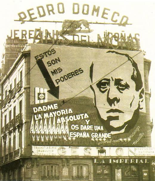 Propaganda electoral de la CEDA