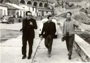 Salvador con Antonio Ros y Octavio Alberola en Biarritz en 1962